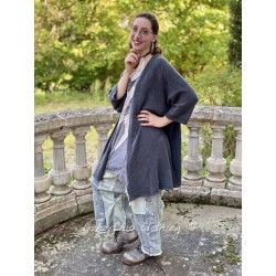 cardigan Handmade Cashmere in Charcoal