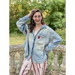 chemise Tobi Workshirt with Bandana Patches