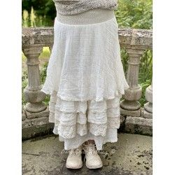 skirt ISA ecru cotton gauze