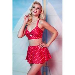 skater skirted brief Polka Dot Red with white polka dot