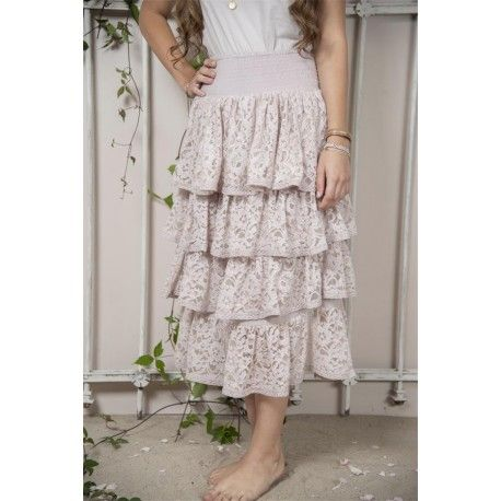 skirt Fanny in Pink Cotton
