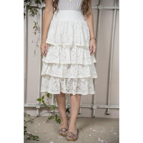 skirt Fanny in White Cotton
