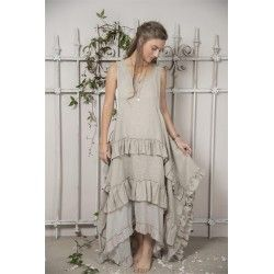 Robe Julie in Natural linen