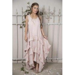 robe Julie en lin rose Jeanne d'Arc Living - 1