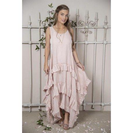 Robe Julie in Rose linen