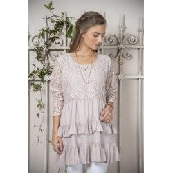 tunic Fanny in Pink Cotton