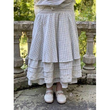robe jupe LOU flex carreaux bleus