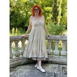 robe CHRISTA voile de coton fleurs roses