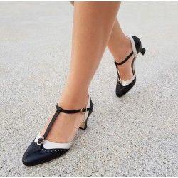 chaussures Luxe Parisienne Noir/Ivoire