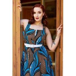 dress Baran Blue