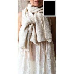 écharpe ALPHONSINE laine cachemire noir