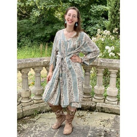 robe-veste Helaine in French Aubergine Magnolia Pearl - 1