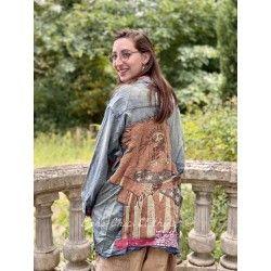 chemise American Indian Embroidered Adison Workshirt in Washed Indigo