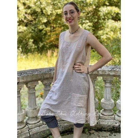 dress Baileybelle in Tan Checked Flour Sac