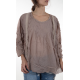top Ellie in Lila Small Dot