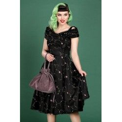 robe Dorothy Floral Rose Collectif - 1