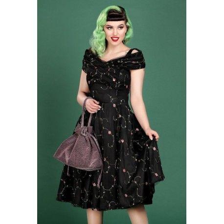 robe Dorothy Floral Rose