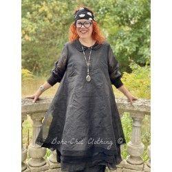 robe OCTAVE organza noir