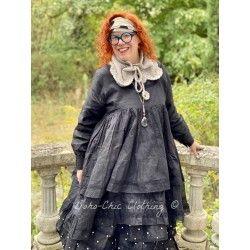 robe OLGA organza noir