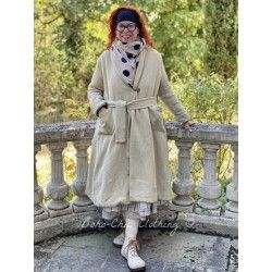manteau long JEANETTE coton rustique