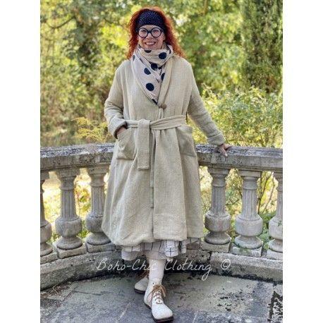 manteau long JEANETTE coton rustique