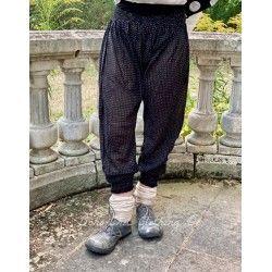 panty FANFAN voile de coton noir à petits pois blanc