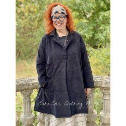 manteau 3/4 SUZANNE velours noir