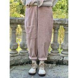 pantalon GASTON velours rose