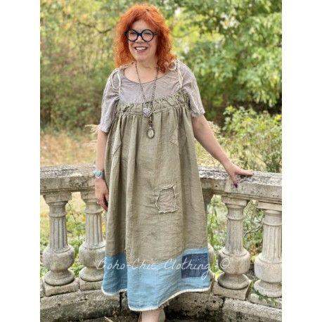 robe Tessie in Earthenware and Laguna