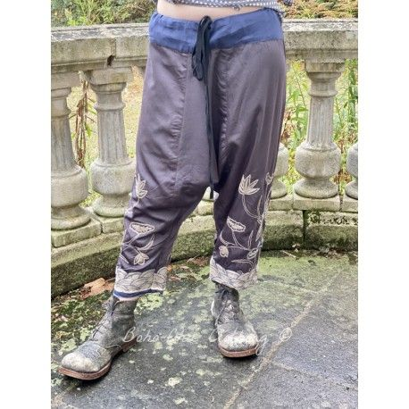 pants Joon Pongee in Ink Stone