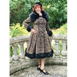 coat Pearl Leopard Print