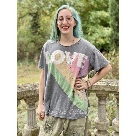 T-shirt Technicolor Love in Ozzy Magnolia Pearl - 1