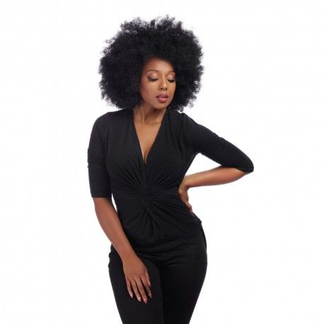 top Vivian Twist Black