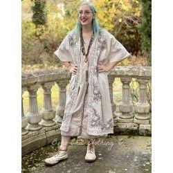 jacket Dragon Dashi Kimono in Moonlight Magnolia Pearl - 1