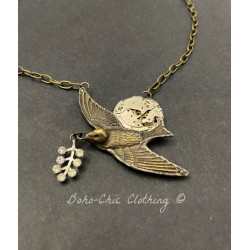 Necklace Time flies in Peace