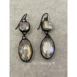 Boucles d'oreilles  in Smoky teardrop DKM Jewelry - 1