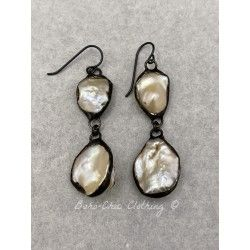 Boucles d'oreilles  in Mother of pearl