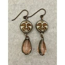 Boucles d'oreilles  in Moon and Blush