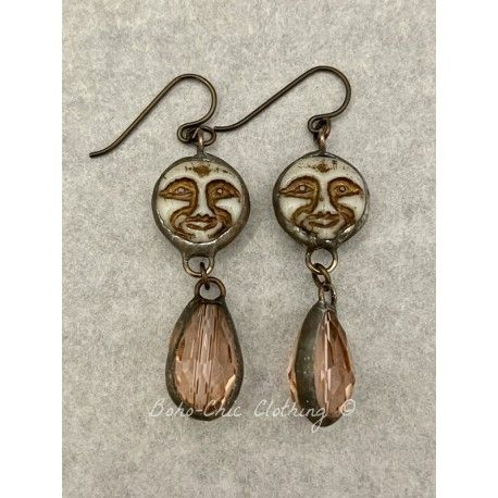 Boucles d'oreilles  in Moon and Blush DKM Jewelry - 1