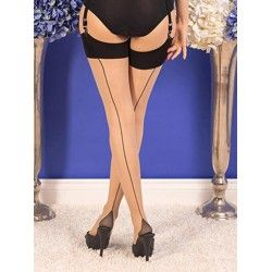 Stockings H2043 Champagne and Black seam What Katie Did - 1