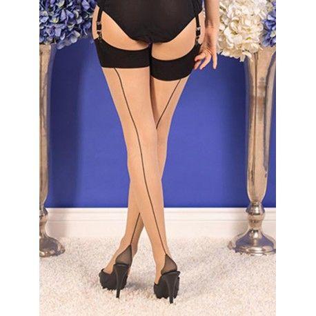 bas H2043 Champagne et couture Noire What Katie Did - 1