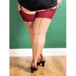 Stockings Curve H2079 Champagne and Claret seam
