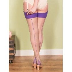 Stockings H2050 Champagne and Purple seam