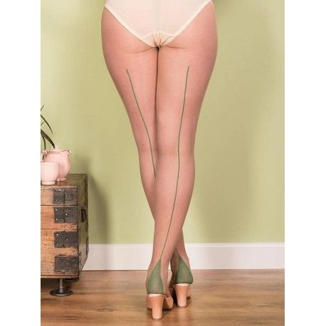 collants H2048 Champagne et couture Verte What Katie Did - 1