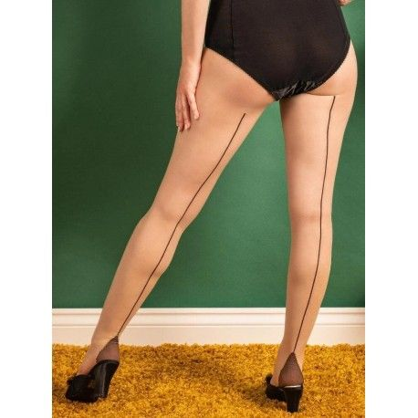 Tights H2084 Champagne and Coffee seam What Katie Did - 1