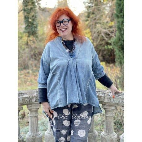 blouse Deeda in Washed Indigo Magnolia Pearl - 1