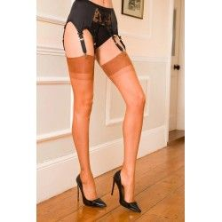 Seamed Stockings FF Harmony Heel Spice