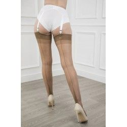 Seamed Stockings FF Harmony Heel Bronze