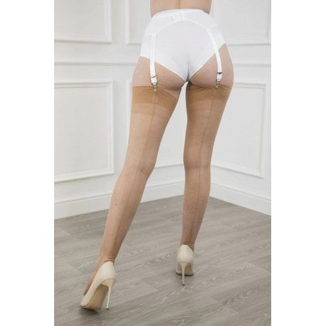 Seamed Stockings FF Harmony Heel Natural
