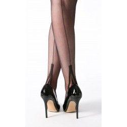 bas couture FF talon Lafayette Noir